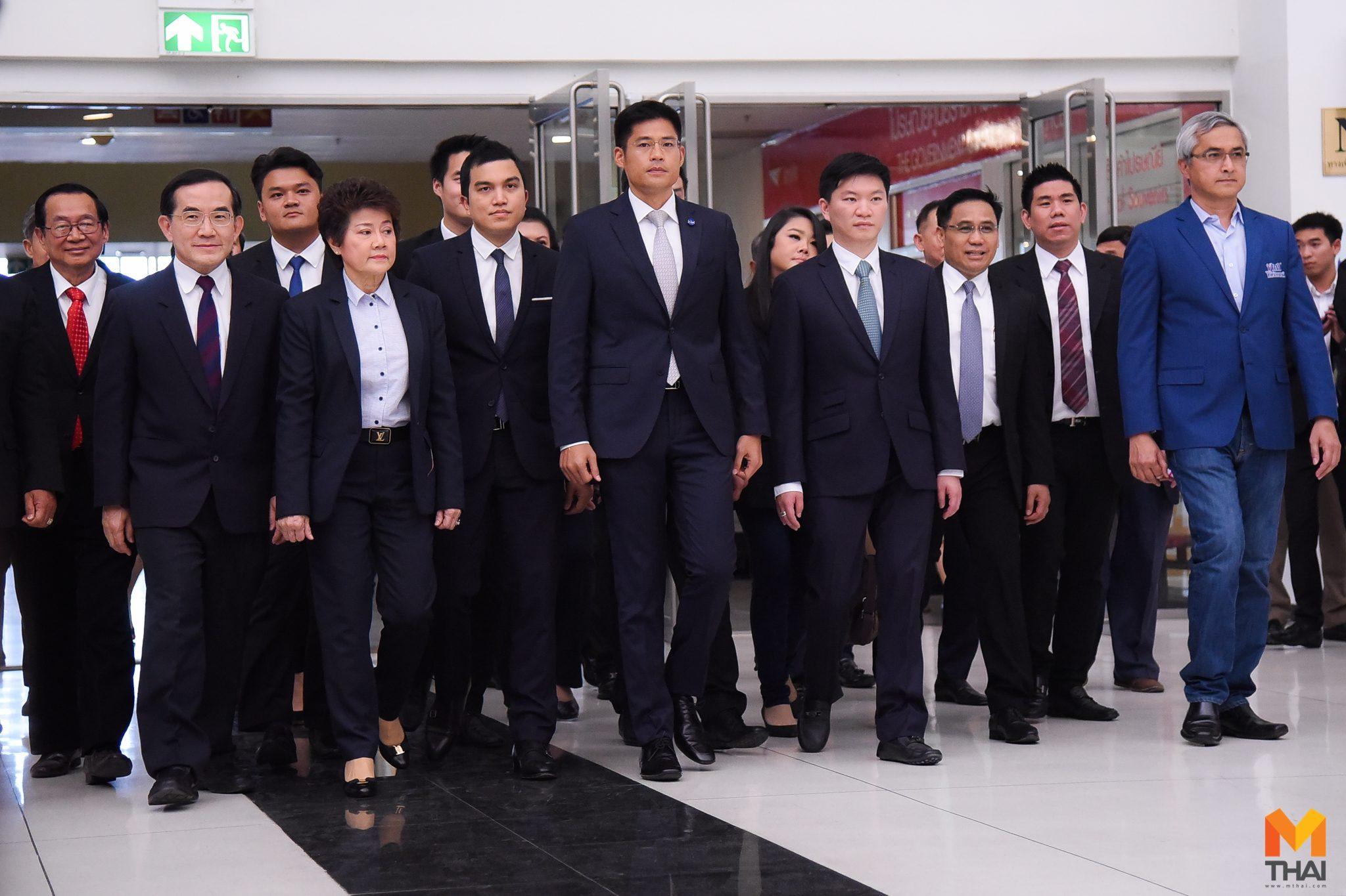 หัวหน้าพรรคไทยรักษาชาติ นำทีมเข้ารับฟังการพิจารณา ยุบ-ไม่ยุบ พรรค