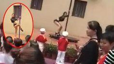 มันส์พะยะค่ะ!! โรงเรียน อนุบาล ในจีนต้อนรับเปิดเทอมสุดหรรษาด้วยโชว์เต้นรูดเสา
