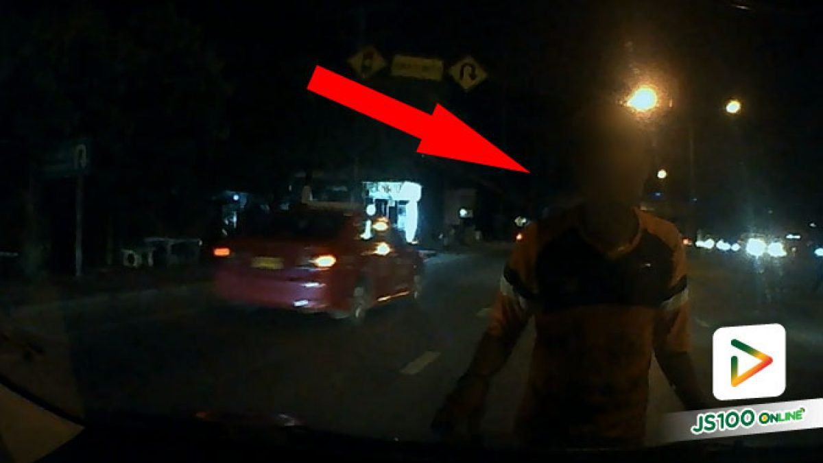 พบตัวแล้ว! ชายเกาะรถยนต์ – ดึงประตูคนขับที่แยกคลอง 7 ธัญบุรี  อ้างอยากกลับบ้านที่ จ.นครพนม