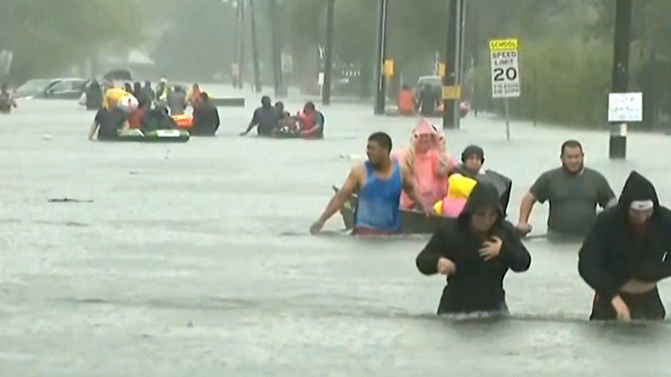 ดีเปรสชั่นอิเมลด้าถล่มเท็กซัส ฝนตกหนัก-น้ำท่วมสูง