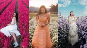 45 ไอเดีย ถ่ายรูปกับทุ่งดอกไม้ แต่งตัวยังไงให้ถ่ายรูปออกมาสวย