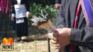 ชาวม้ง-ปกาเกอะญอ ทำพิธีสาปแช่งคนเผาป่าดอยอินทนนท์
