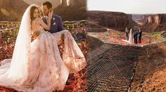 คู่รักนักผจญภัย จัดงานแต่งงานบนความสูง 400 ฟุต สวย สูง และ เสียวมาก!!!