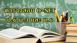 เช็คตารางสอบ O-NET ป.6 ม.3 และ ม.6 ปีการศึกษา 2560