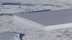 เป๊ะอย่างไม่น่าเชื่อ ! ภูเขาน้ำแข็งจากธรรมชาติ ทรงสี่เหลี่ยมผืนผ้าสมบูรณ์