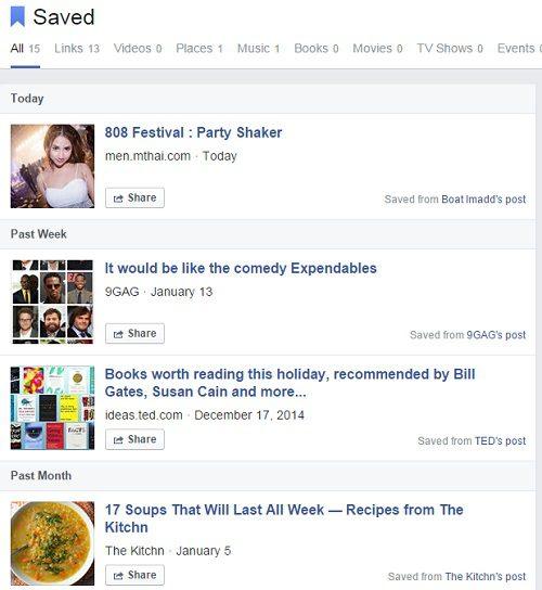 facebook save 3