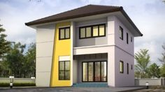 แบบบ้านสองชั้น 3 ห้องนอน 2 ห้องน้ำพื้นที่ใช้สอย 136 ตร.ม.