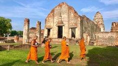 เที่ยวลพบุรี แต่งไทย ใส่บาตร เดินตลาด ชมวัง