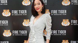 """เสือสาวซุปตาร์ตัวแม่ """"อั้ม พัชราภา"""" ร่วมฉลองความสำเร็จ Fire Tiger"""