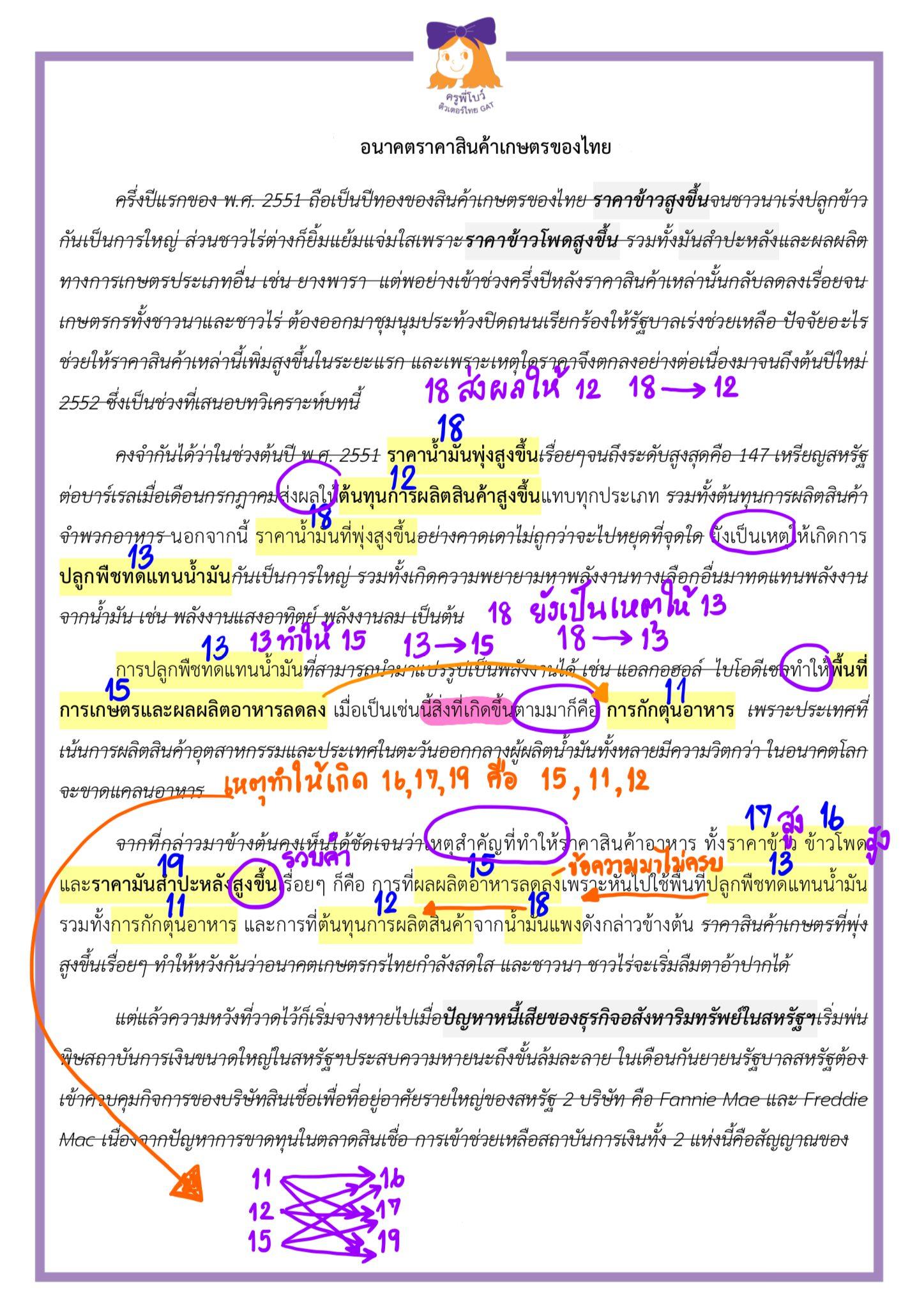 ข้อสอบจริง วิชาภาษาไทย