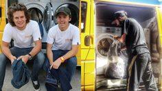 สองหนุ่มออสเตรเลีย ดัดแปลงรถตู้ให้เป็น รถซักผ้าเคลื่อนที่ ให้คนไร้บ้านใช้ฟรีๆ