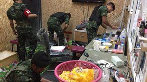 ทหารบุกจับบ่อนย่านลำลูกกา รวบนักพนันได้ 118 คน ของกลางเพียบ