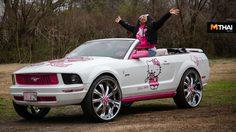 จับม้าป่าสุดคลั่ง Ford Mustang กลายร่างเป็นเเมวเหมียว Hello Kitty