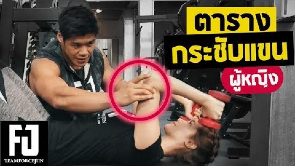 โปรแกรม กระชับแขน (ผู้หญิง) ..บอกลาแขนห้อย |Workout Program EP.4 Forcejun