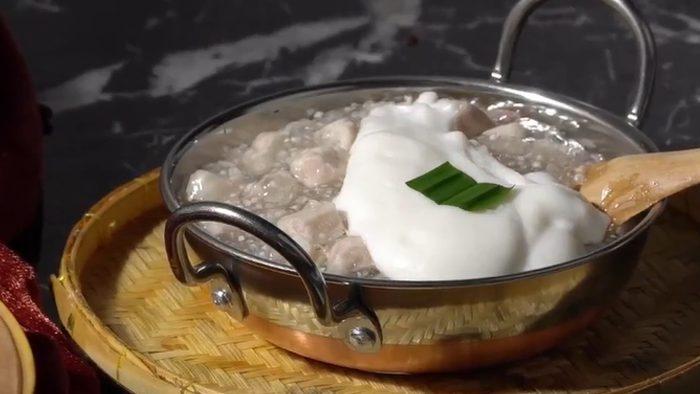 วิธีทำ ตะโก้สาคูเผือก เมนูขนมไทยทำง่าย อร่อย หวานมัน