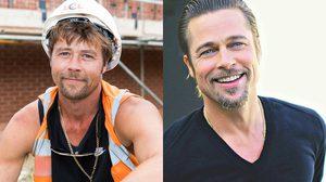 อย่างกับแฝด หนุ่มก่อสร้างหน้าเหมือน Brad Pitt แบบสำเนาถูกต้อง