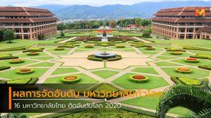 รายชื่อ 16 มหาวิทยาลัยไทย ติดอันดับโลก 2020