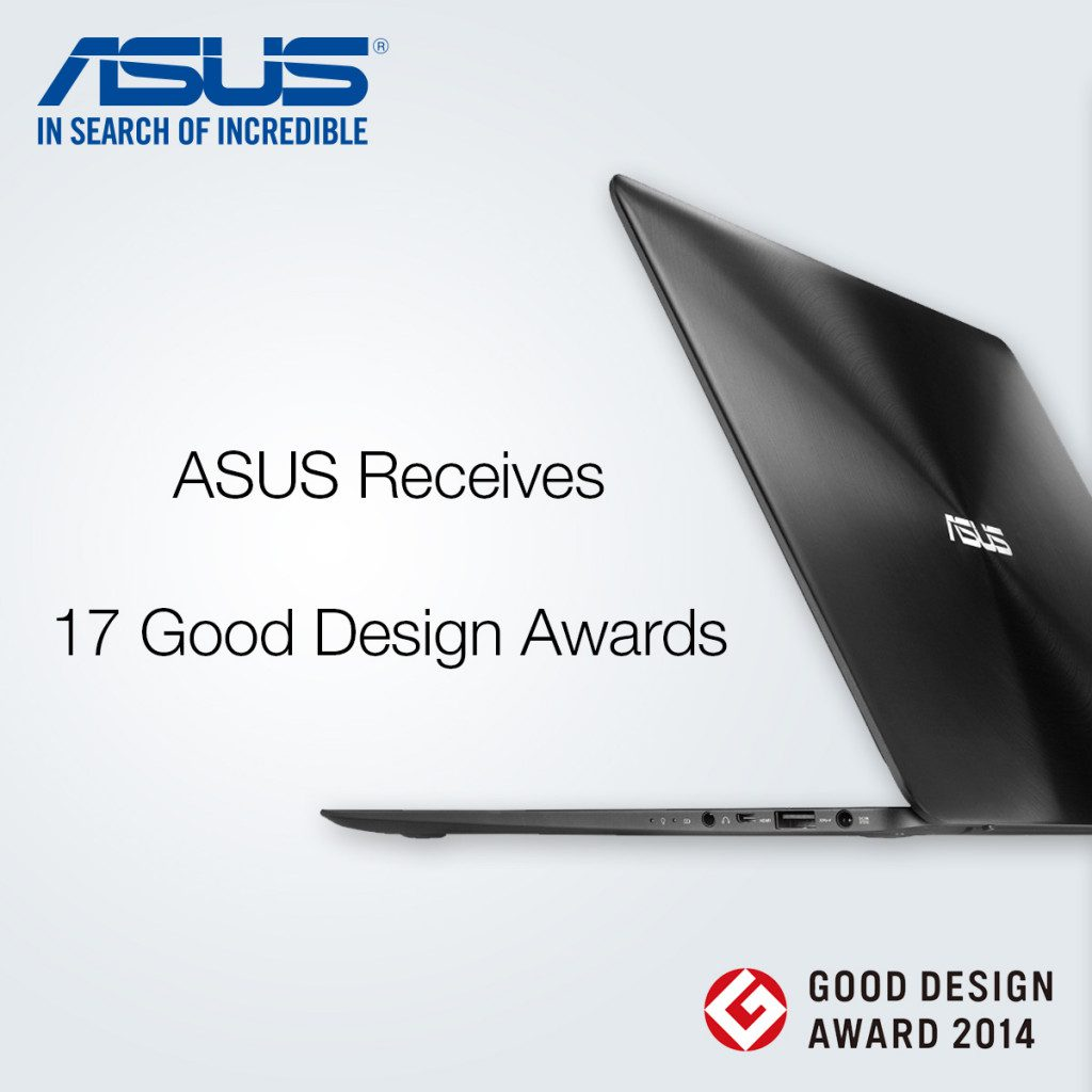 ASUS Receives 17 Good Design Awards