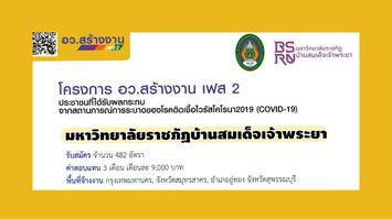 ประกาศรับสมัครแรงงาน 482 อัตรา เงินเดือน 9 พัน- มรภ. บ้านสมเด็จเจ้าพระยา