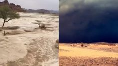 ซาอุฯสภาพอากาศแปรปวน เกิดน้ำท่วมหนักสุดในรอบหลายสิบปี