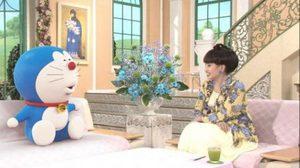 โดราเอมอนให้สัมภาษณ์ในห้องส่งรายการ Tetsuko's Room
