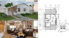 งบ 1.5 ล้านแบบบ้านเดี่ยวชั้นเดียว บ้านแนวคันทรี ขนาด 260 ตร.ม.