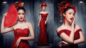 จากวรรณกรรมจีน สู่ ชุดแต่งงาน สีแดงเบอร์กันดี รับตรุษจีน