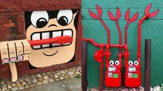 ศิลปะข้างถนน จากศิลปินนิวยอร์ค ของธรรมดากลายเป็นสิ่งเรียกรอยยิ้มให้ชาวเมือง