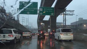 มาตามนัด ฝนตกถล่มกรุงปริมณฑล บางซื่อ-หลักสี่-นนท์ หนัก