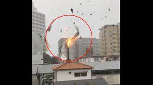 คลิปนาที ไต้ฝุ่นเซบีพัดถล่มญี่ปุ่น ทำรถปลิว-หลังคาบ้านเรือนลอยว่อน