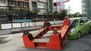 รฟม. แจง กรณีคานก่อสร้างรถไฟฟ้าตกใส่รถ บนถนนพหลโยธิน