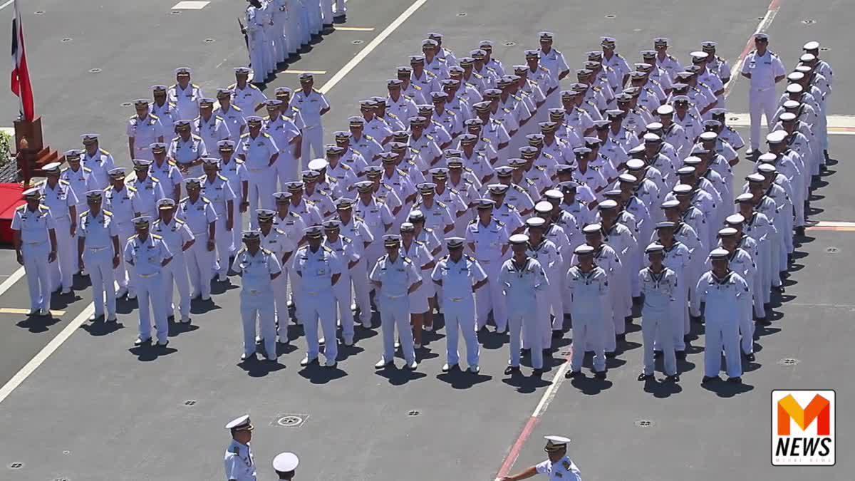 กองทัพเรือ จัดพิธีสวนสนามเรือ   เพื่อเป็นเกียรติ ให้ พล.ร.อ. ณะ อารีนิจ ผบ.ทร.ในโอกาสเกษียณอายุราชการ
