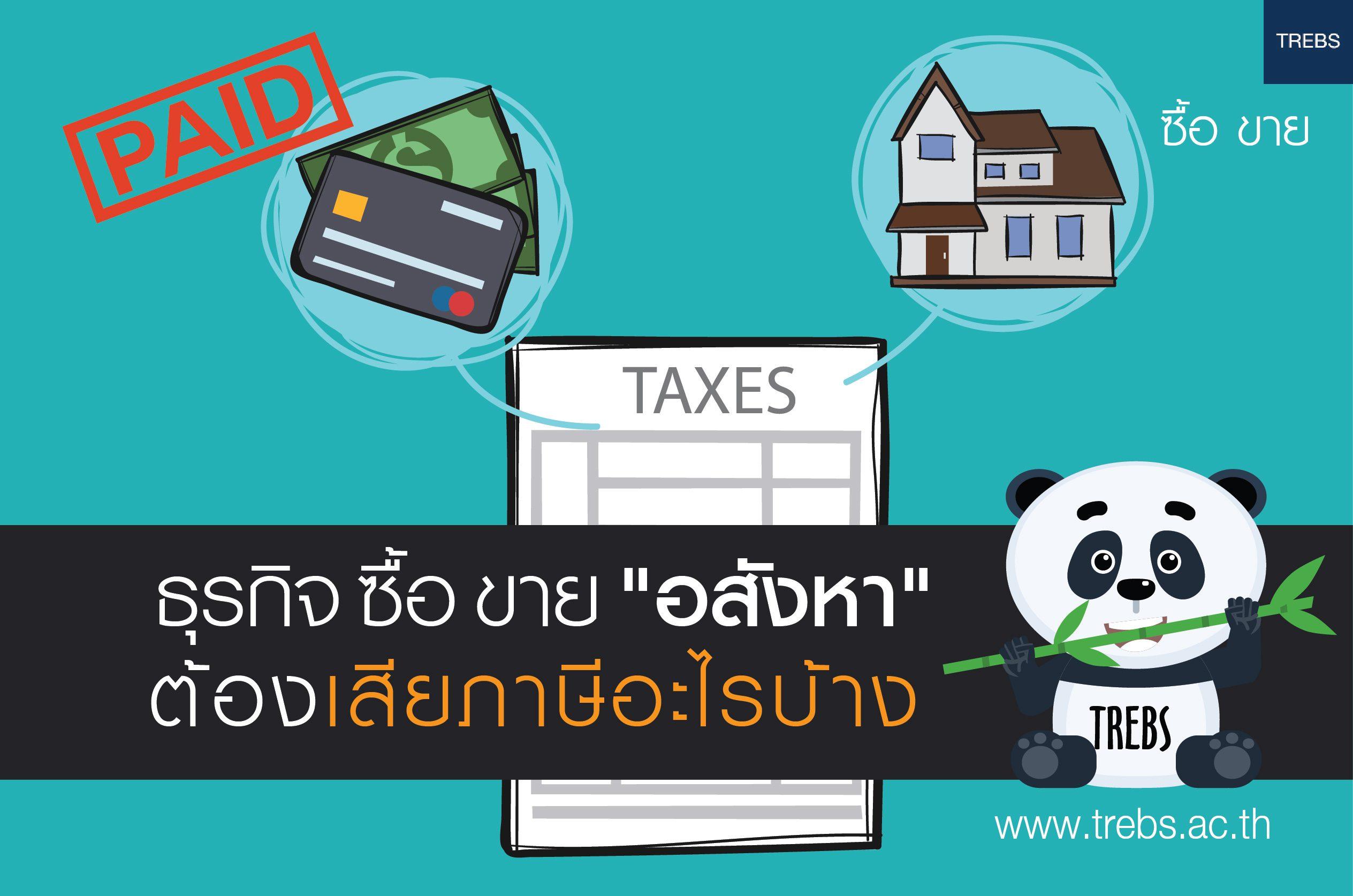 ภาษีที่เกี่ยวข้องกับการซื้อขายอสังหาริมทรัพย์