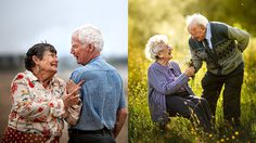 ภาพถ่ายคู่รักสูงอายุ มองแล้วอดยิ้มไม่ได้ เพราะนี่แหละที่เขาว่า รักแท้มีอยู่จริง