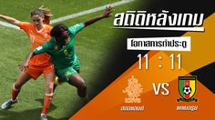 สถิติหลังเกม : ฮอลแลนด์ vs แคเมอรูน !! (14 มิ.ย. 62)