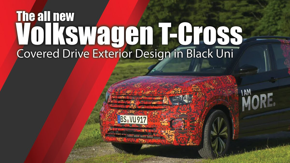 The all new Volkswagen T-Cross - Covered Drive Exterior Design in Black Uni