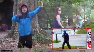 """หนุ่มน้อยล้อเลียนคลิปข่าวพายุเฮอริเคน """"ฟลอเรนซ์"""" ที่โป๊ะแตกไม่เป็นท่า"""