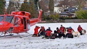 ภาพภารกิจกู้ชีพ หาผู้รอดชีวิต หลังหิมะเทือกเขาแอลป์ถล่ม!!