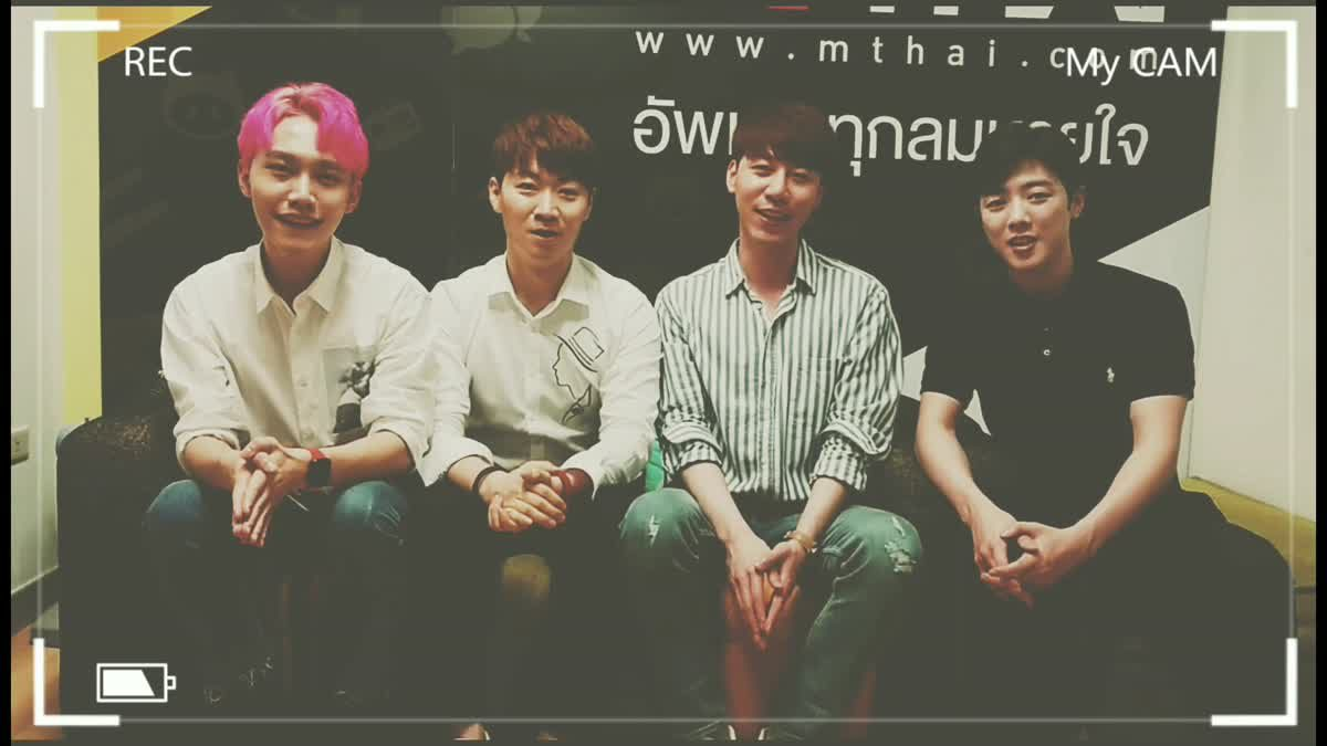 วง Poet สี่หนุ่มจากเกาหลี โชว์ร้องเพลงไทยกันสดๆ!!