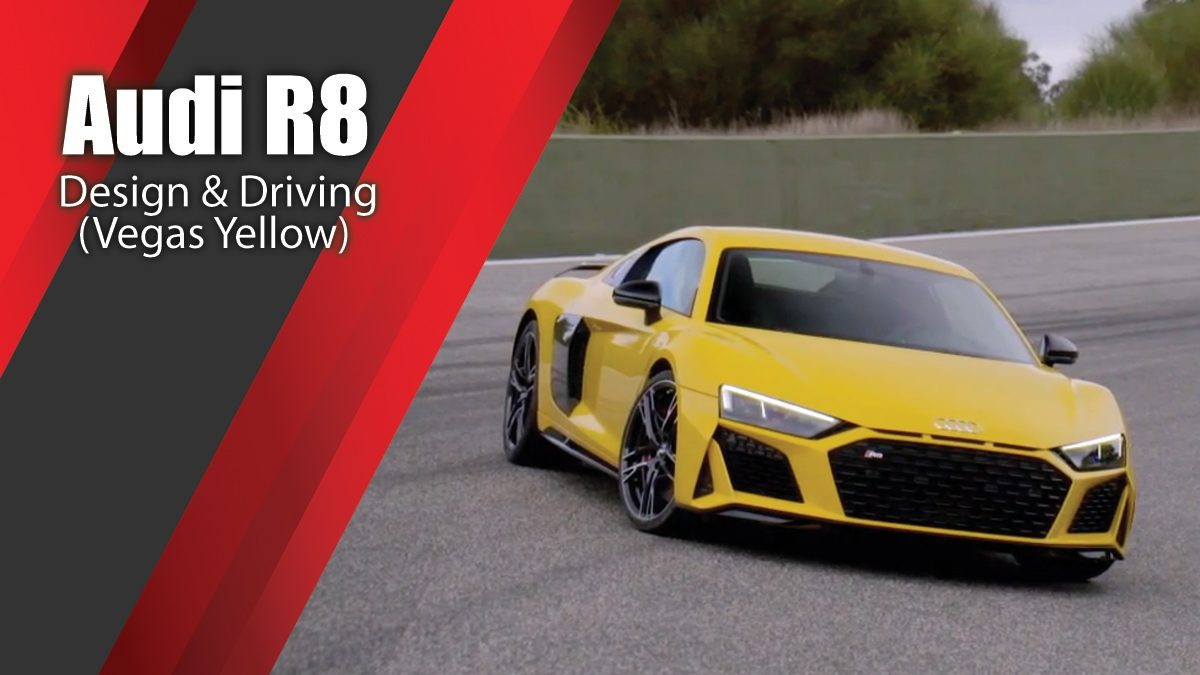Audi R8 Design & Driving in Vegas Yellow