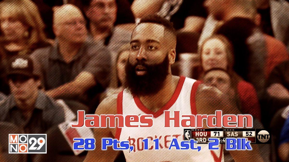 James Harden 28 Pts. 11 Ast. 2 Blk.