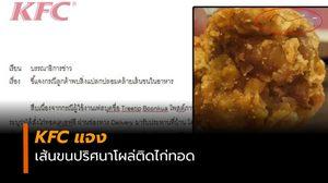 KFC  ชี้แจง หลังภาพเส้นขนปริศนา ฝังแน่นบนไก่ทอด