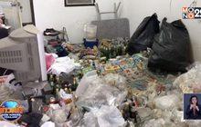 วอนผู้เช่าหอพักติดต่อกลับหลังทิ้งขยะกองท่วมห้อง