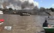 เรือระเบิดกลางแม่น้ำในเปรู