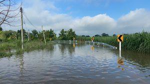 25 เส้นทาง ได้รับผลกระทบน้ำท่วม สัญจรผ่านไม่ได้