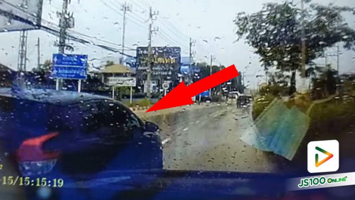 คนเราก็นะ.. ฝนตกถนนลื่นก็ชอบให้เบรคกะทันหันจัง (15/08/2021)