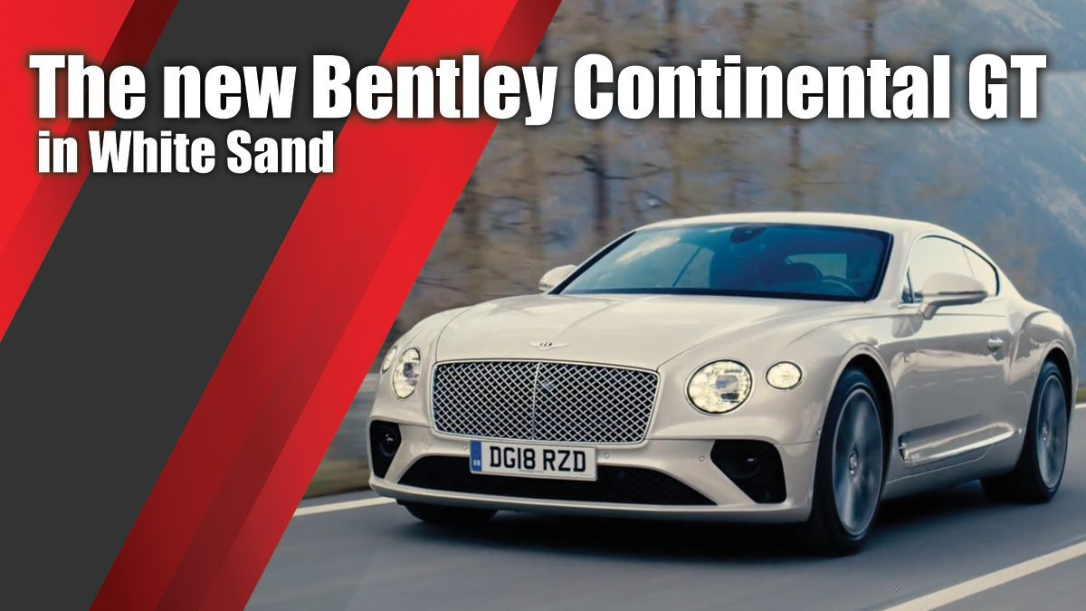 The new Bentley Continental GT in White Sand