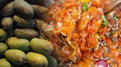 ร้านมะม่วงน้ำปลาหวานเจ้แป๊ว กุ้งแห้งตัวโต ที่สุดของแปลงนาม