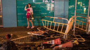 เปิดภาพความเสียหาย หลังเกิดเหตุปะทะในฮ่องกง