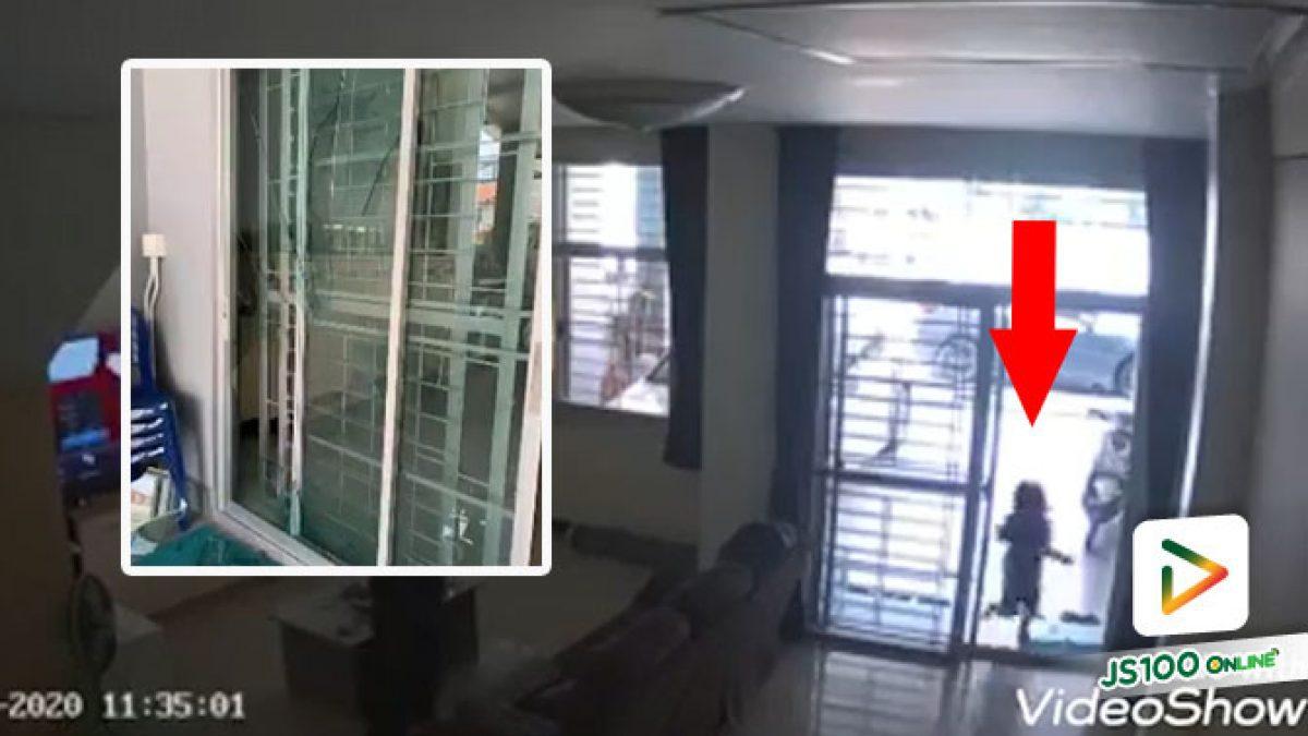 อุทาหรณ์! เด็กหญิงวิ่งเล่นกับพี่ชายในบ้าน ชนประตูกระจกอย่างแรง เย็บ 23 เข็ม